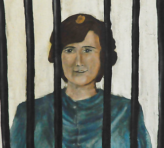 kinda looks like john lennon behind bars..van horn texas,old clark hotel