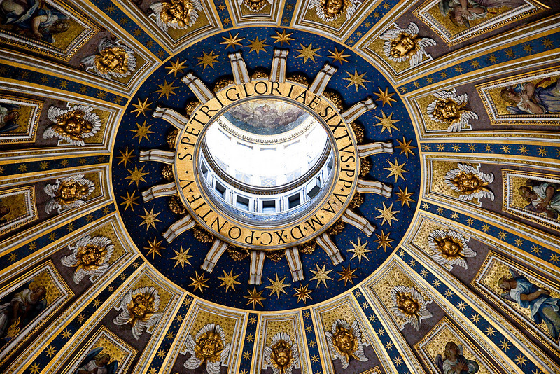 MAIN DOME OF ST. PETER'S BASILICA BY MICHELANGELO