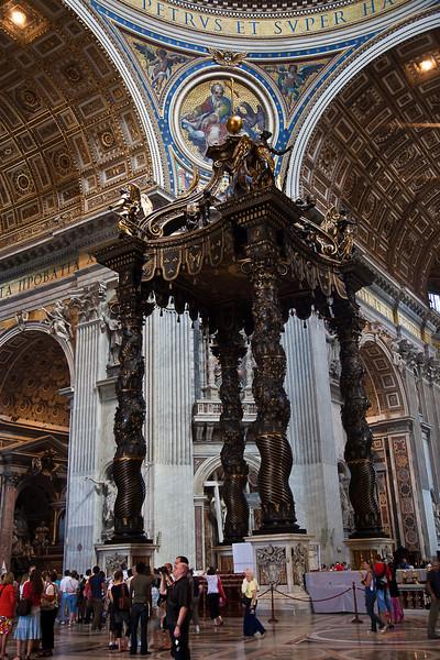 ST. PETER'S BASILICA-BERNINI'S BRONZE CANOPY