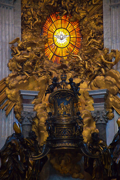 BERNINI'S DOVE WINDOW AND ST. PETER'S THRONE