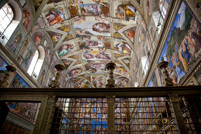VIEW FROM THE BACK OF SISTINE CHAPEL