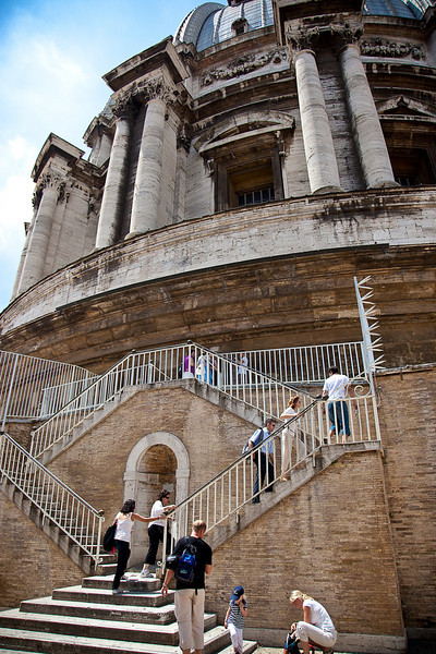 BEGINNING OF 323 STEP CLIMB TO THE CUPOLA OF OF ST. PETER'S BASILICA