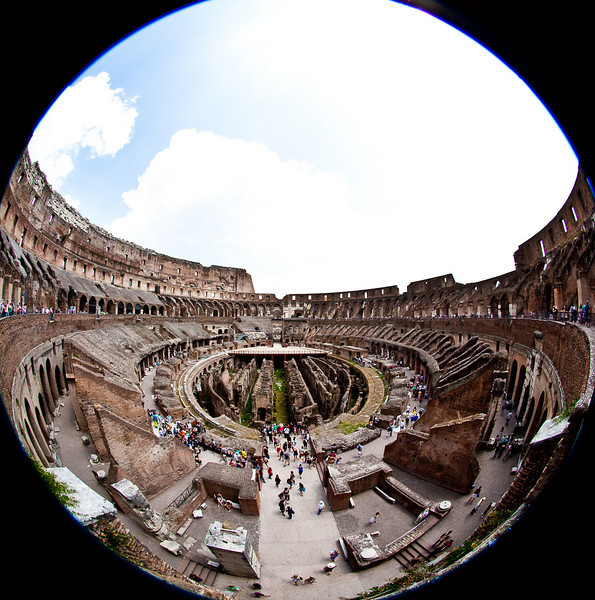 """FISHEYE"" VIEW OF COLOSSEUM"