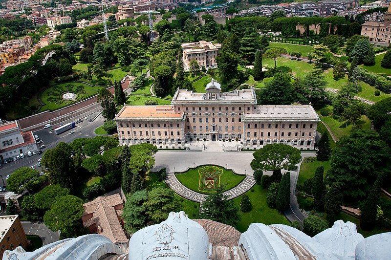 VATICAN GARDENS AS SEEN FROM THE CUPOLA
