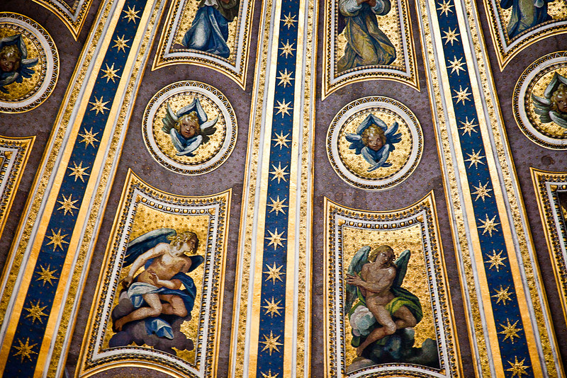 CLOSE-UP VIEW OF MOSAIC WORK IN THE DOME