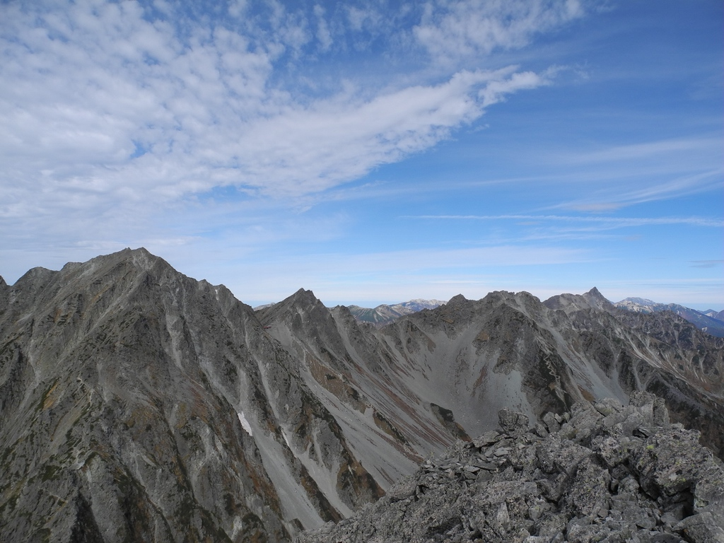 Looking north to Yari Peak at the northern end of the Hotaka Ridge.