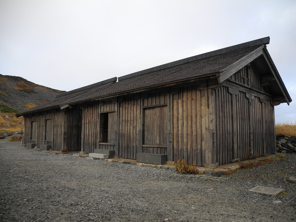 Murodo mountain hut.
