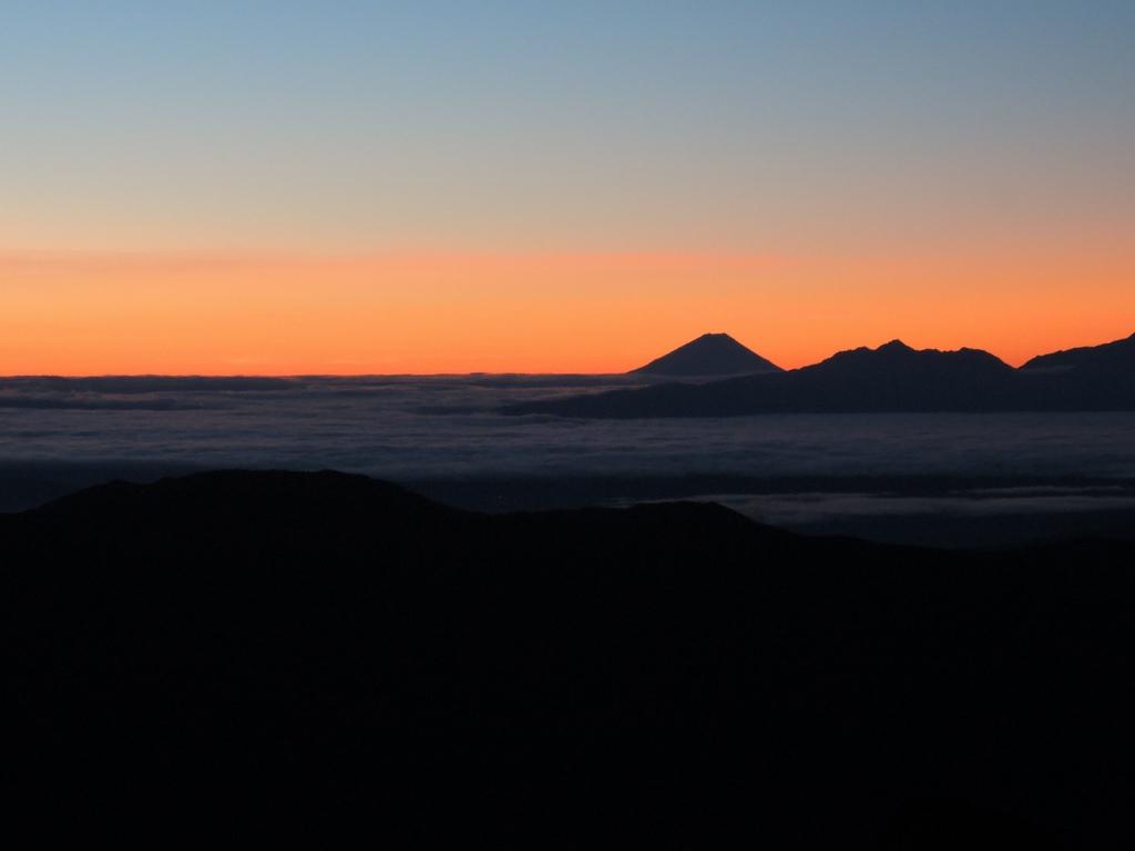 Mt Fuji from Hotaka at dawn.