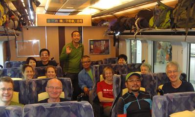 On the train to Matsumoto