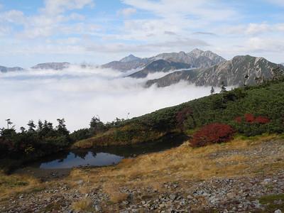 Looking north towards Tateyama and Tsurugidake.