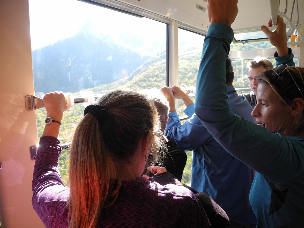 The ropeway on the Alpine Route.