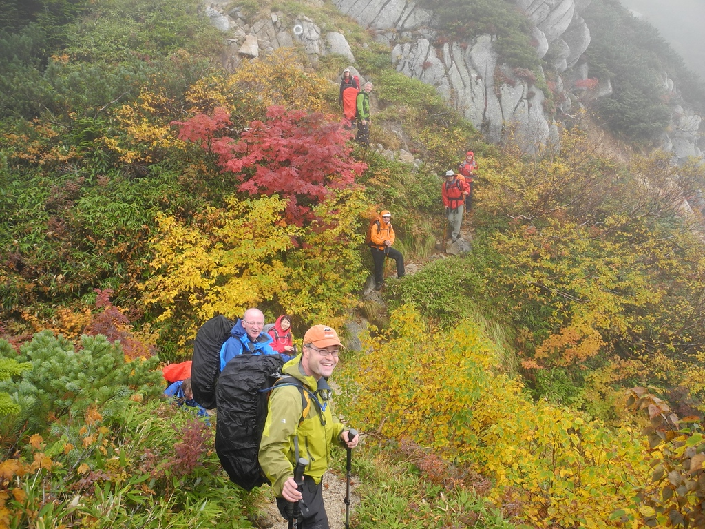 Hiking through autumn colour on the Roof of Japan.