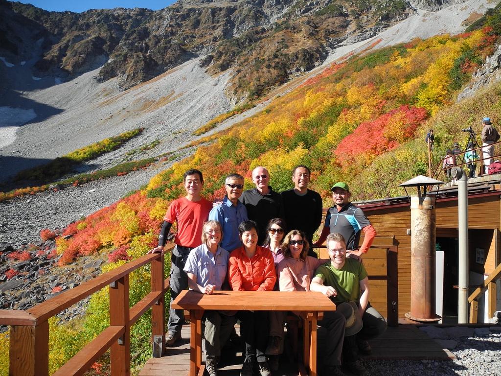 Group photo overlooking Karasawa.