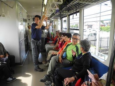 Local train en route to Tateyama.