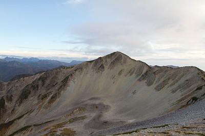 Looking south towards the peak of Yakushidake.