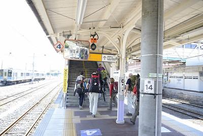 Changing train at Matsumoto