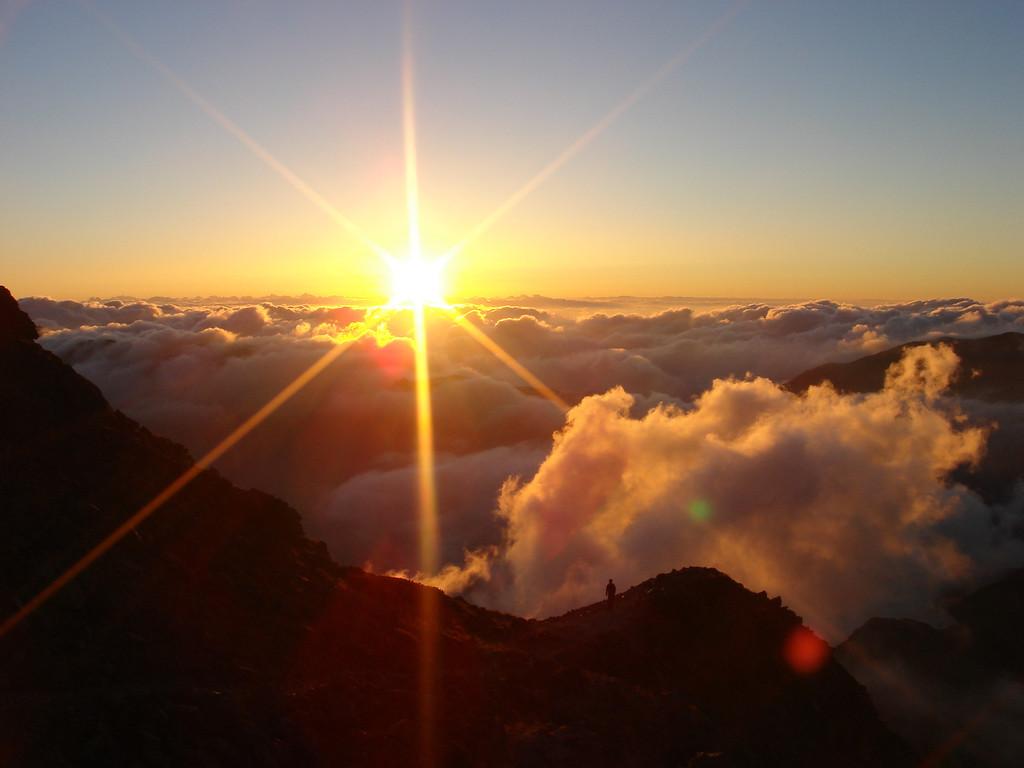 SUNSET FROM YARIGATAKE.