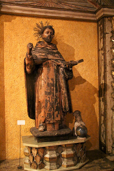 "The museum has a large collection of statues, paintings, and numerous other objects such as this 16th century carved wood and polychrome figure called "" Father God."""