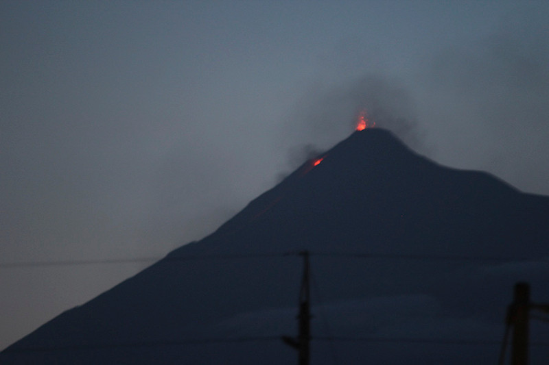 "Volcán de Fuego (""Volcano of Fire"") was putting on a bit of a show for us."