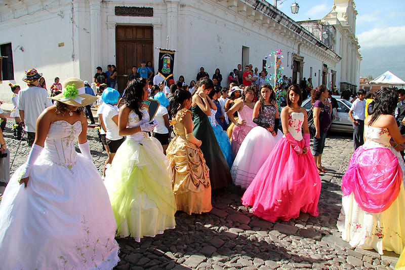 Southern belles (Southern Antigua anyway) in colorful gowns.