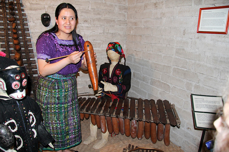 There was a nice museum with a tour guide who demonstrated some the old musical instruments such as this marimba