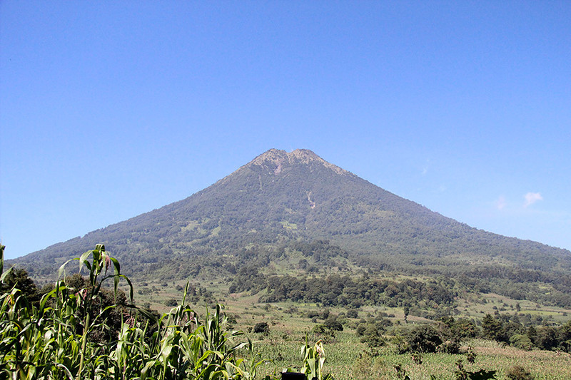"""We are climbing high on one of the surrounding mountains to visit """"the Mayan Village of Aprons""""."""