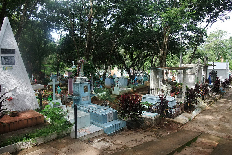 The next morning we visited the local cemetery.
