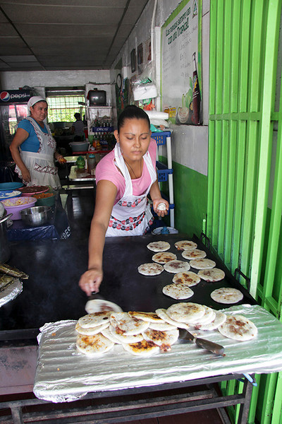 A typical meal (or in some instances, a snack) for the locals would be three to six pupusas.