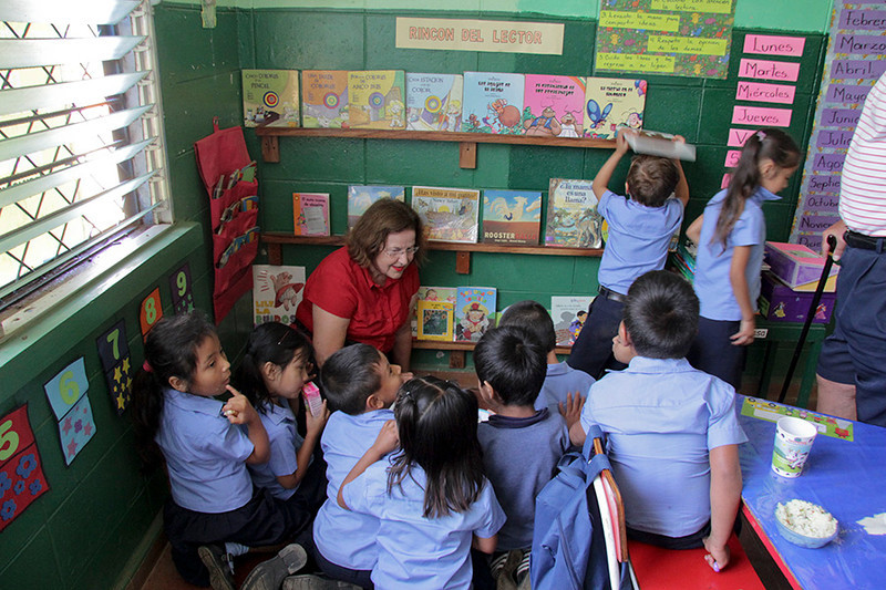 School teacher Suzanne found a willing group to relate to.