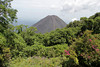 """Spectacular view of the Izalco Valcano which had erupted almost continuously from 1770 (when it formed) to 1958, earning it the nickname of """"Lighthouse of the Pacific""""."""
