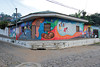 ...one of the town's more elaborate murals extending on both sides of the corner house was the winner.