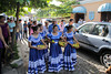 These local beauties turned out to be folk dancers in costume.