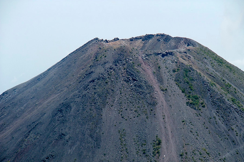 Look close. Maybe you can see the smoke or steam that we thought we saw coming from the volcano but alas, no eruption.