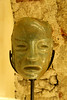 Jade was used by the Maya for art, religion and for weapons. This mask, like the masks and statues  in the following photographs, are replicas of  Mayan artifacts on display in the House of Jade in Antigua.