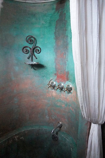 Loved the new antique tub...a fixture in all the rooms.
