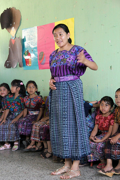 Their teacher informed us that the school receives no support from the Guatemalan Government.  It receives some support from our tour company through the Grand Circle Foundation and the families must pay the rest of the cost.
