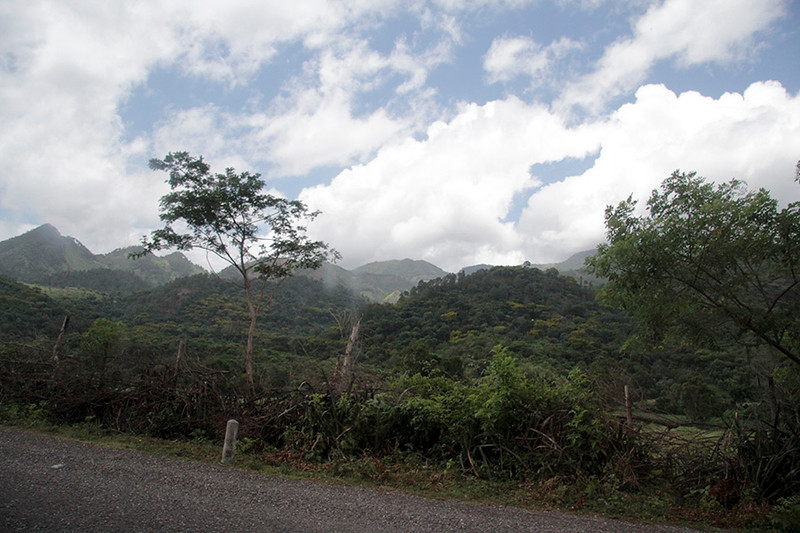 Typical terrain in the highlands of Guatemala.