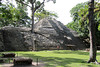 The stairway in the center of the Rosalila Temple is called the Jaguar Stairway.