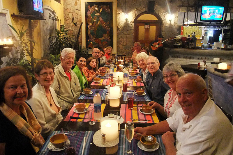 The whole crew was here for dinner tonight--Suzanne, Joan, Boyd, Madeline, Nahoma, Martin, Max, Sarah, Susan, John B., Maureen, Alice, Larry, Jo and John S.
