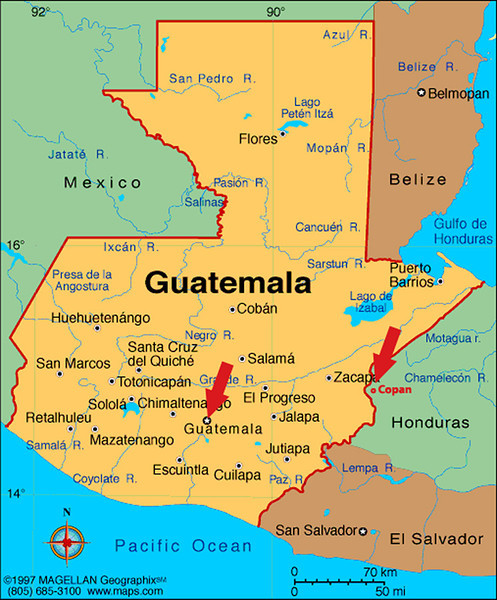 We are now leaving the Copan area for Guatemala City.