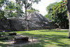 Looking toward the pyramid temple known as the Rosalila Temple. This area is known as the West Court.