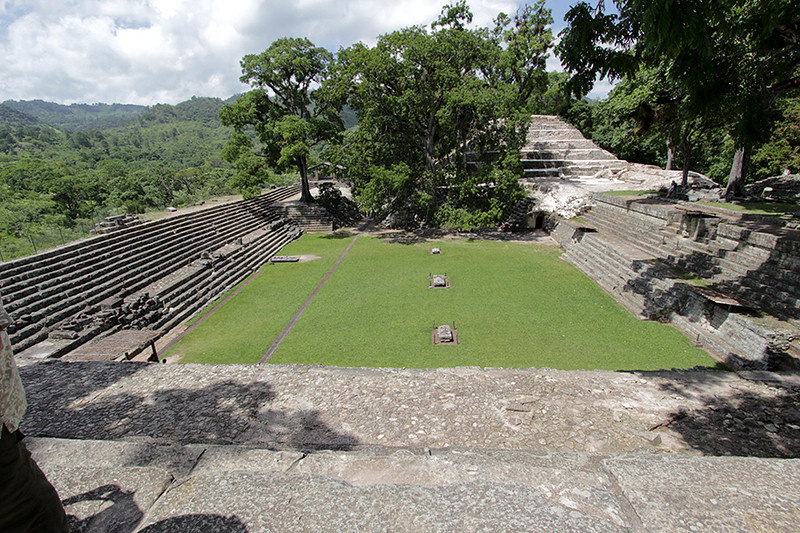 Looking across the East Court toward the Rosalila Temple from the top of Temple 22.