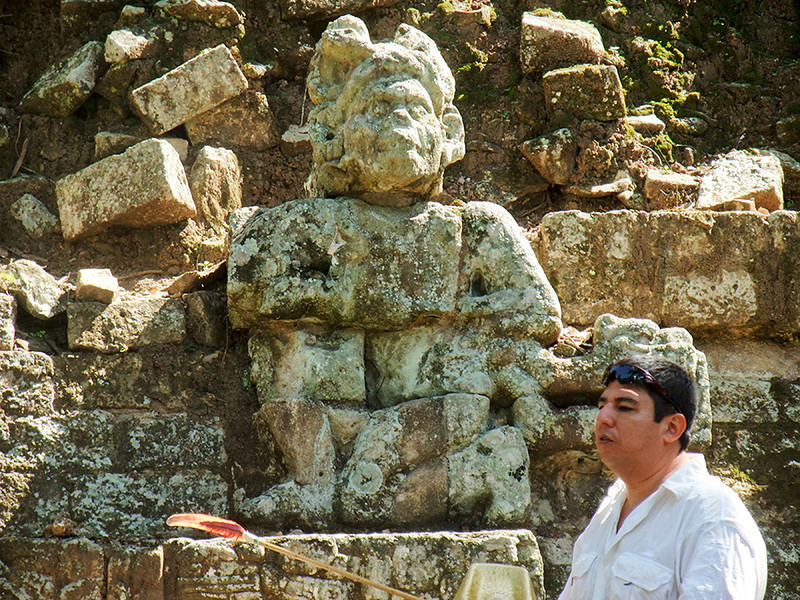 Rodolfo discusses some of the 17 various kings who are known to have ruled Copan during it's long history.