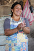 The ground corn is made into traditional tortillas...