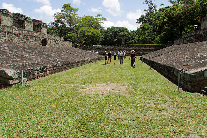We walked through the Ballcourt  toward the Great Plaza.