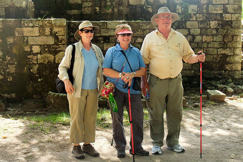 Joan, Maurene and John are ready to see more of Copan.