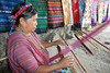 We visited a weaving consortium where one of the women of the village demonstrated her skill.