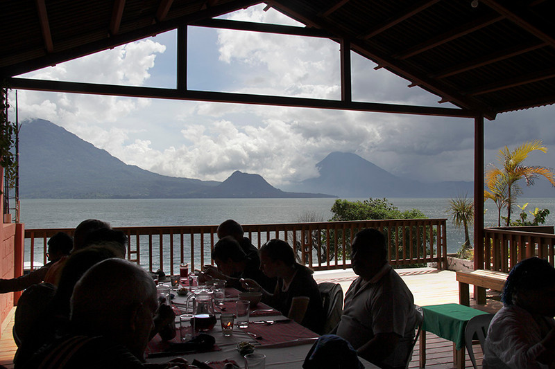 Lunch in San Antonio was at a lovely family restaurant overlooking Lake Atitlan.