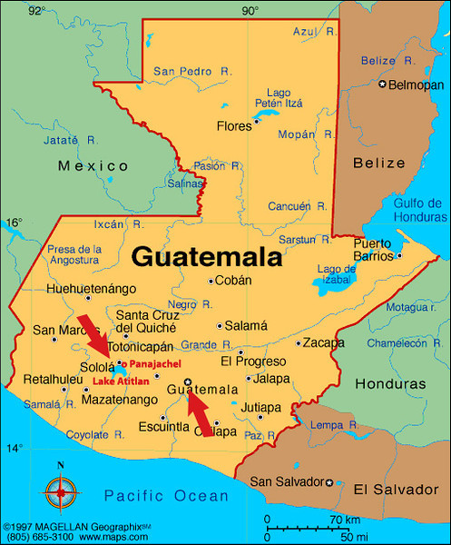 We are traveling from Guatemala City to Panajachel on Lake Atitlan with a stop at Solola.