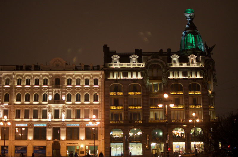 Saint Petersburg - Dom Knigi (Singer House) at Night 7